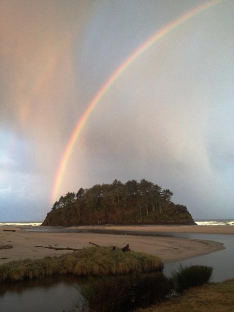 Rainbow over Proposal Rock