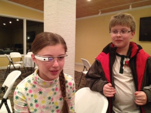Kids First Exposure to Google Glass