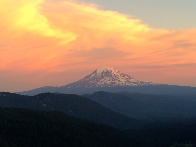 Mt Adams Sunset