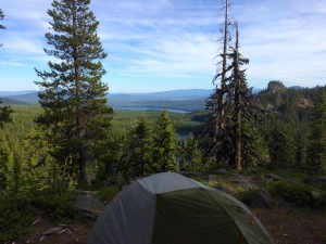 First Campsite Overlooking Rosary Lakes