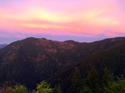 Sunrise over King Mtn.