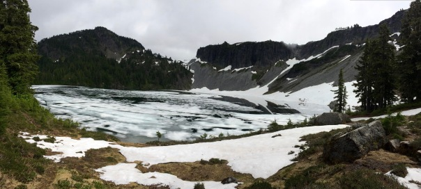 Iceberg Lake below Table Mountain