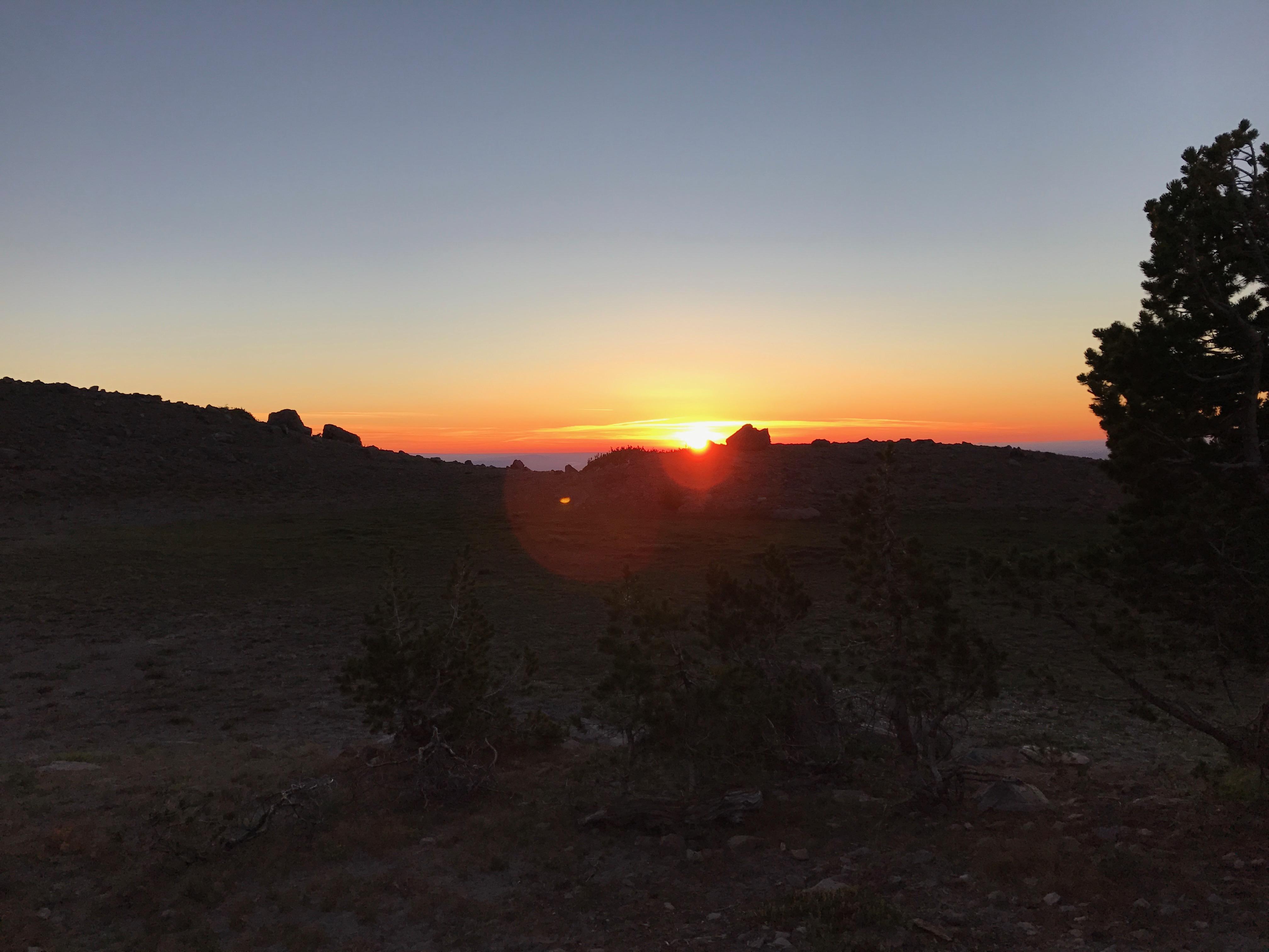 Sunrise on the east side of Mt. Hood