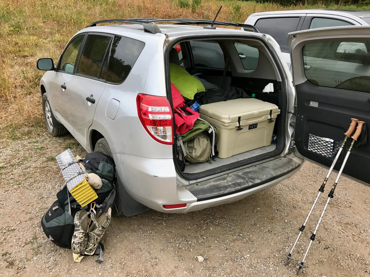 Backpacking Car