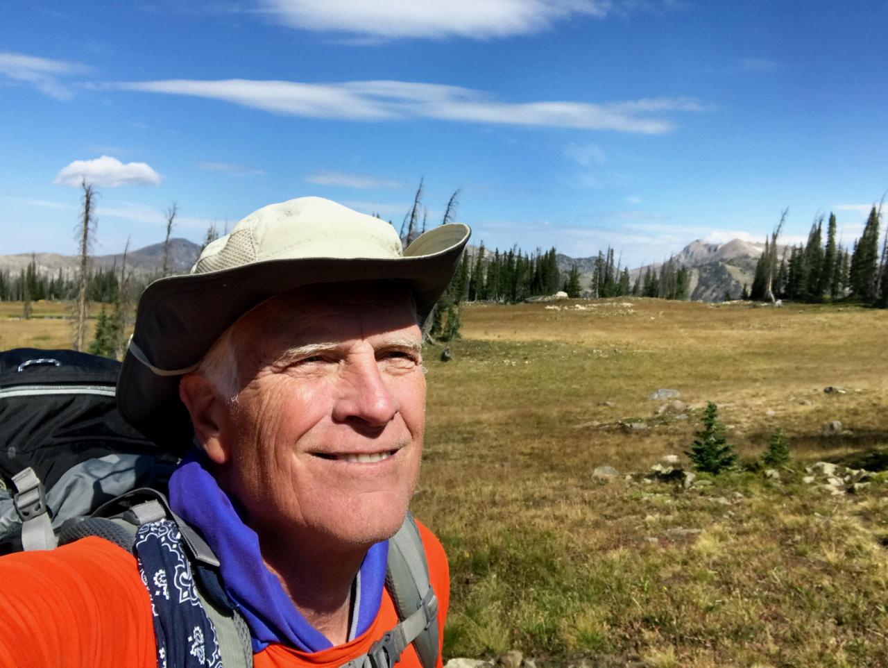 Greg Selfie on Wyoming Trail
