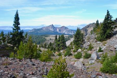 Husband Peak coming down Separation Creek