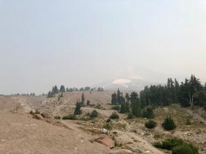 Smoke Obscures Mt Hood
