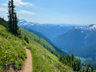 Climbing Red Pass