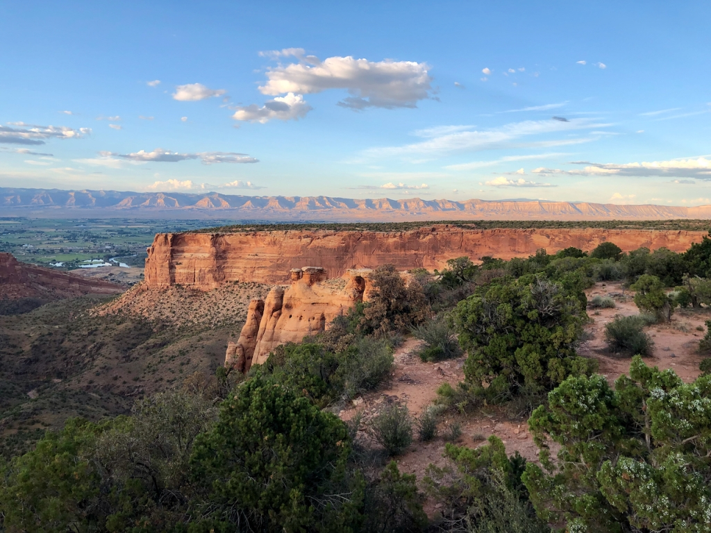 Grand Junction Valley from Colorado Monument